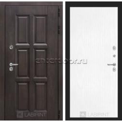 Уличная дверь Лабиринт Лондон Термо 07 (Винорит Алмон 28 / Белое дерево)