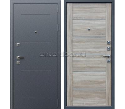 Входная металлическая дверь АСД Техно XN 99 (Букле Графит / Дуб сонома светлый)