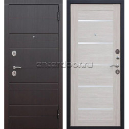 Входная металлическая дверь Барселона Царга (Венге / Лиственница беж)