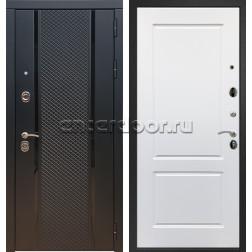 Входная стальная дверь Армада 25 ФЛ-117 (Чёрный кварц / Белый матовый)