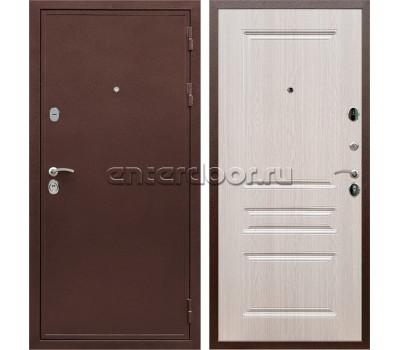 Входная металлическая дверь Армада 5А сталь 3 мм ФЛ-243 (Медный антик / Дуб беленый)