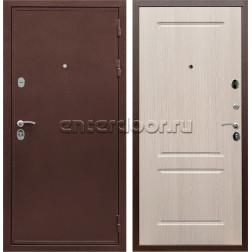 Входная металлическая дверь Армада 5А сталь 3 мм ФЛ-117 (Медный антик / Дуб белёный)