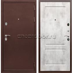 Входная металлическая дверь Армада 5А сталь 3 мм ФЛ-117 (Медный антик / Бетон светлый)