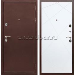 Входная металлическая дверь Армада 5А сталь 3 мм ФЛ-291 (Медный антик / Белый матовый)