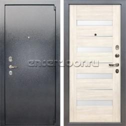Входная стальная дверь Лекс 3 Барк Сицилио (Серый букле / Дуб беленый) панель №46