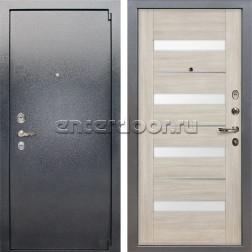 Входная стальная дверь Лекс 3 Барк Сицилио (Серый букле / Ясень кремовый) панель №48