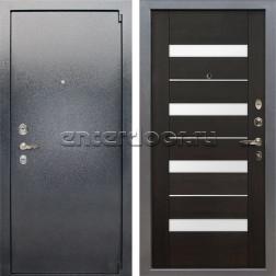 Входная стальная дверь Лекс 3 Барк Сицилио (Серый букле / Венге) панель №51