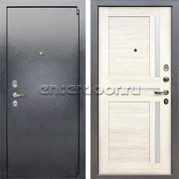 Входная стальная дверь Лекс 3 Барк Баджио (Серый букле / Дуб беленый) панель №47
