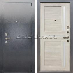 Входная стальная дверь Лекс 3 Барк Баджио (Серый букле / Ясень кремовый) панель №49