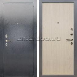 Входная стальная дверь Лекс 3 Барк (Серый букле / Беленый дуб) панель №1