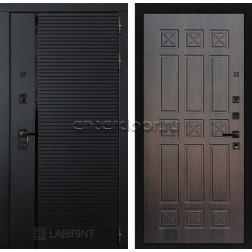 Входная металлическая дверь Лабиринт Piano 16 (Чёрный кварц / Алмон 28)