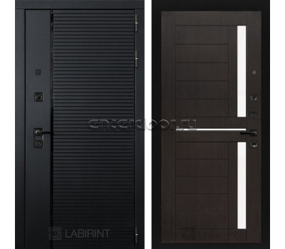 Входная металлическая дверь Лабиринт Piano 02 (Чёрный кварц / Венге)