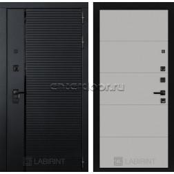 Входная металлическая дверь Лабиринт Piano 13 (Чёрный кварц / Грей софт)
