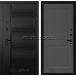 Входная металлическая дверь Лабиринт Piano 11 (Чёрный кварц / Графит софт)