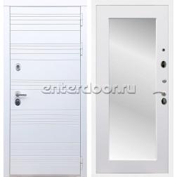 Входная металлическая дверь Армада 14 Зеркало 2XL (Белый матовый / Белый матовый)