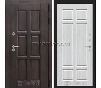 Уличная дверь Лабиринт Лондон Термо 08 (Винорит Алмон 28 / Кристалл вуд)