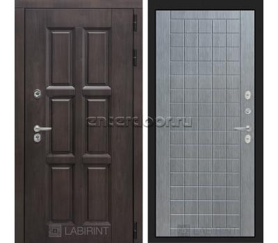 Уличная дверь Лабиринт Лондон Термо 09 (Винорит Алмон 28 / Лен сильвер грей)