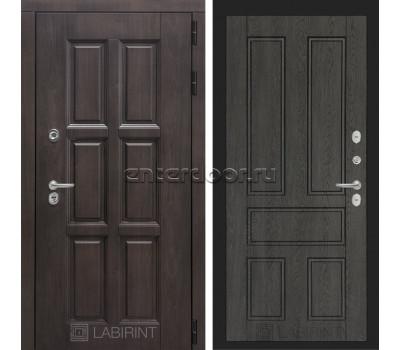 Уличная дверь Лабиринт Лондон Термо 10 (Винорит Алмон 28 / Дуб филадельфия графит)