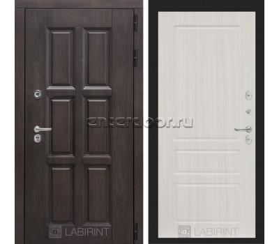 Уличная дверь Лабиринт Лондон Термо 03 (Винорит Алмон 28 / Сандал белый)