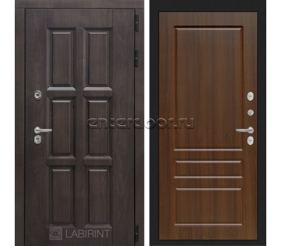 Уличная дверь Лабиринт Лондон Термо 03 (Винорит Алмон 28 / Орех бренди)