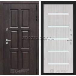Уличная дверь Лабиринт Лондон Термо 01 (Винорит Алмон 28 / Сандал белый)