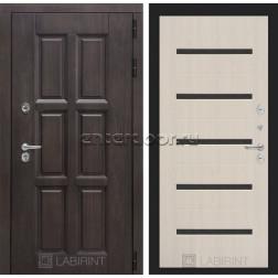 Уличная дверь Лабиринт Лондон Термо 01 (Винорит Алмон 28 / Белёный дуб)