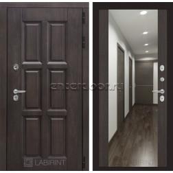Уличная дверь Лабиринт Лондон Термо с Зеркалом Максимум (Винорит Алмон 28 / Венге)