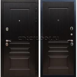 Уличная металлическая дверь Лабиринт Термо Магнит 20 (Антик медный / Бетон светлый)