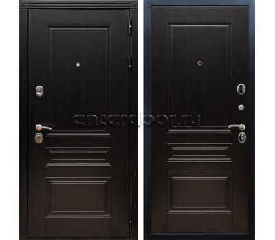 уличная металлическая дверь Лабиринт Термо Магнит 21 (Антик медный / Бетон светлый)