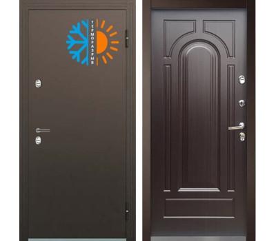 входная уличная дверь с терморазрывом Бульдорс Термо-1 Венге Конго ТВ-1