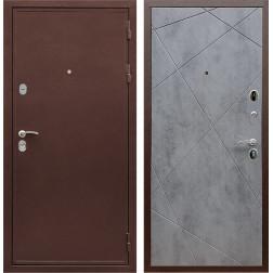 Входная металлическая дверь Армада 5А Лучи (Медный антик / Бетон тёмный)