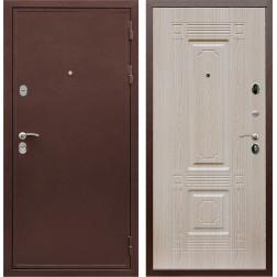 Входная металлическая дверь Армада 5А ФЛ-2 (Медный антик / Дуб беленый)