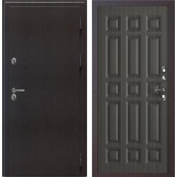 Уличная входная дверь с терморазрывом SUPERTERMA 1200 (Муар коричневый / Венге тисненый)
