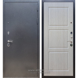 Входная металлическая дверь Армада 11 ФЛ-3 (Антик серебро / Дуб беленый)
