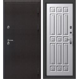 Уличная входная дверь с терморазрывом SUPERTERMA 1100 (Муар коричневый / Крем дип)