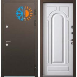 Входная уличная дверь с терморазрывом Бульдорс Термо-2 Белый перламутр ТВ-1