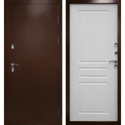 Уличная входная дверь с терморазрывом Армада Термо Сибирь 3К (Антик медь / Венге)