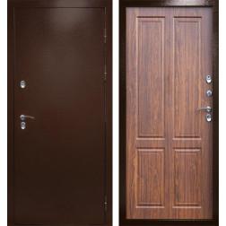 Уличная входная дверь с терморазрывом Армада Термо Сибирь 3К (Антик медь / Орех)