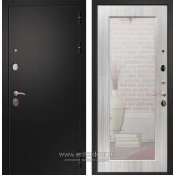Входная металлическая дверь Армада 1A Пастораль с Зеркалом (Черный муар / Сандал белый)