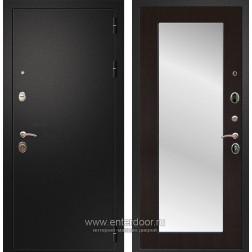 Входная металлическая дверь Армада 1A Пастораль с Зеркалом (Черный муар / Венге)