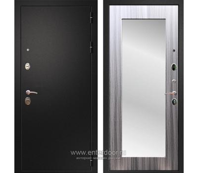 Входная металлическая дверь Армада 1A Пастораль с Зеркалом (Черный муар / Сандал серый)