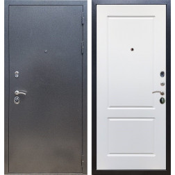 Входная стальная дверь Армада 11 ФЛ-117 (Антик серебро / Белый матовый)
