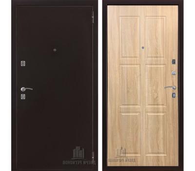 Входная металлическая дверь Триумф ФЛ Классик (Антик медь / Дуб сонома светлый)