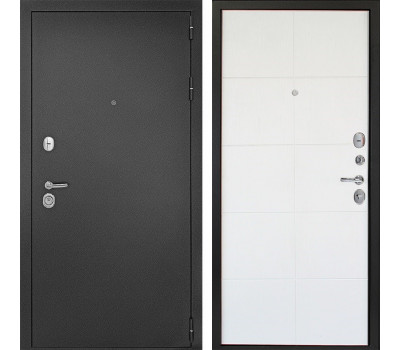 Входная металлическая дверь Континент Гарант-2 3К (Антик Серебро / Белое дерево)