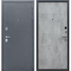 Входная металлическая дверь АСД Спартак Б (Букле Графит / Бетон светлый)