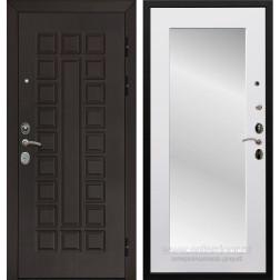 Входная металлическая дверь Армада Сенатор Cisa с Зеркалом Пастораль (Венге / Белый матовый)
