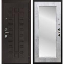 Входная металлическая дверь Армада Сенатор Cisa с Зеркалом Пастораль (Венге / Бетон светлый)