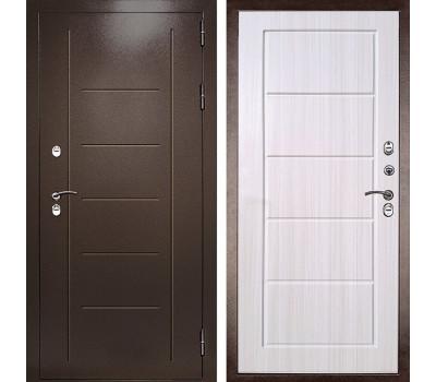 уличная дверь с терморазрывом Термаль Экстра (Медный антик / Лиственница бежевая)