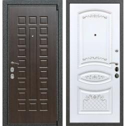 Входная стальная дверь Армада 4А Mottura ФЛ-316 (Венге / Белый патина Серебро)