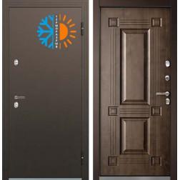 Входная уличная дверь с терморазрывом Бульдорс Термо-1 Орех грецкий ТВ-2